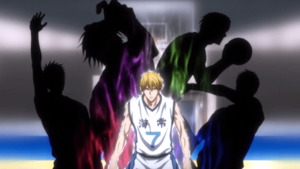 Kise can copy the Generation of Miracles. Okay, he's scary now. I don't even know how scary, because that pink aura there is Akashi,  and the only skill I've seen him use is his Alpha Dog commanding  aura, which is scary, but probably not imitable.