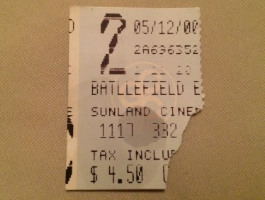 I couldn't find my ticket stub (though it would have been for The Ring anyway - way to support the industry!). I did, however, find a stub for this classic.