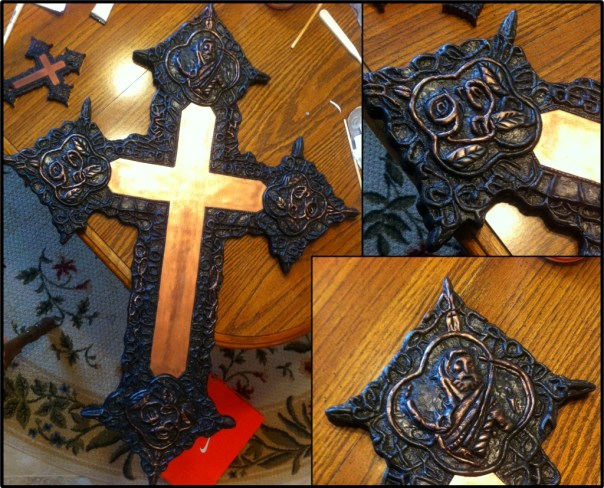 one of Casey's cosplay props (L Lawliet Cross)