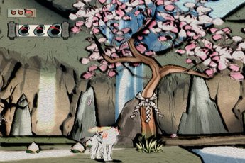 Okami, one of the most beautiful games I've ever seen.