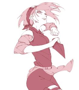 sakura fighting pink