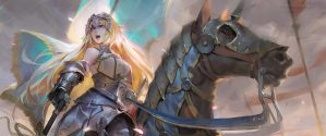 jeanne d'arc on a horse