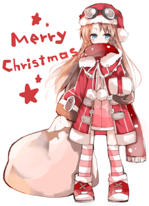 anime christmas girl