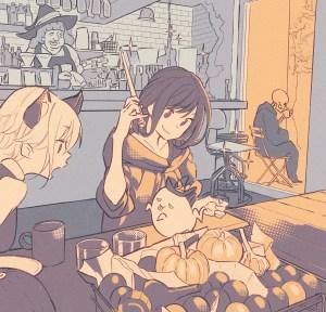 halloween anime girls kawaii cute death