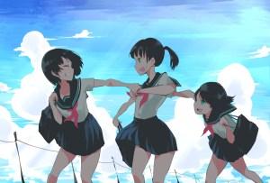 anime girls running