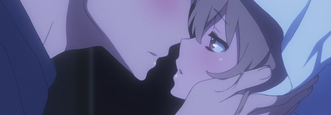 Taiga and Ryuuji kiss