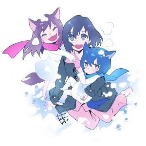wolf children ame and yuki and hana
