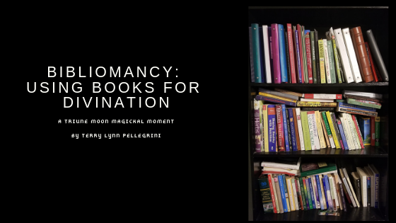 Bibliomancy - A bookshelf stacked with books
