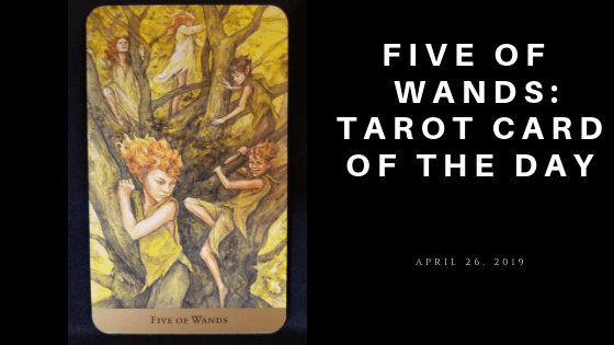 Five of Wands Tarot Card form HIdden Realm Tarot