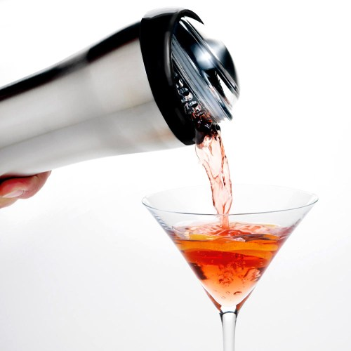 Shaken Not Stirred - pouring from a martini shaker into a glass