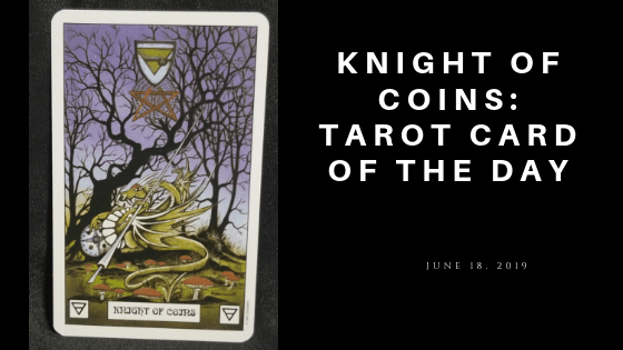 Knight of Coins Tarot Card