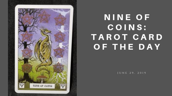 Nine of Coins Dragon Tarot