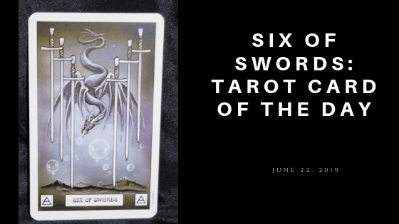 Six of Swords Dragon Tarot