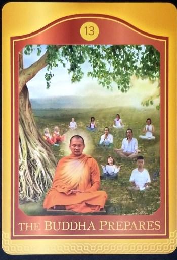 The Buddha Prepares Tarot Card