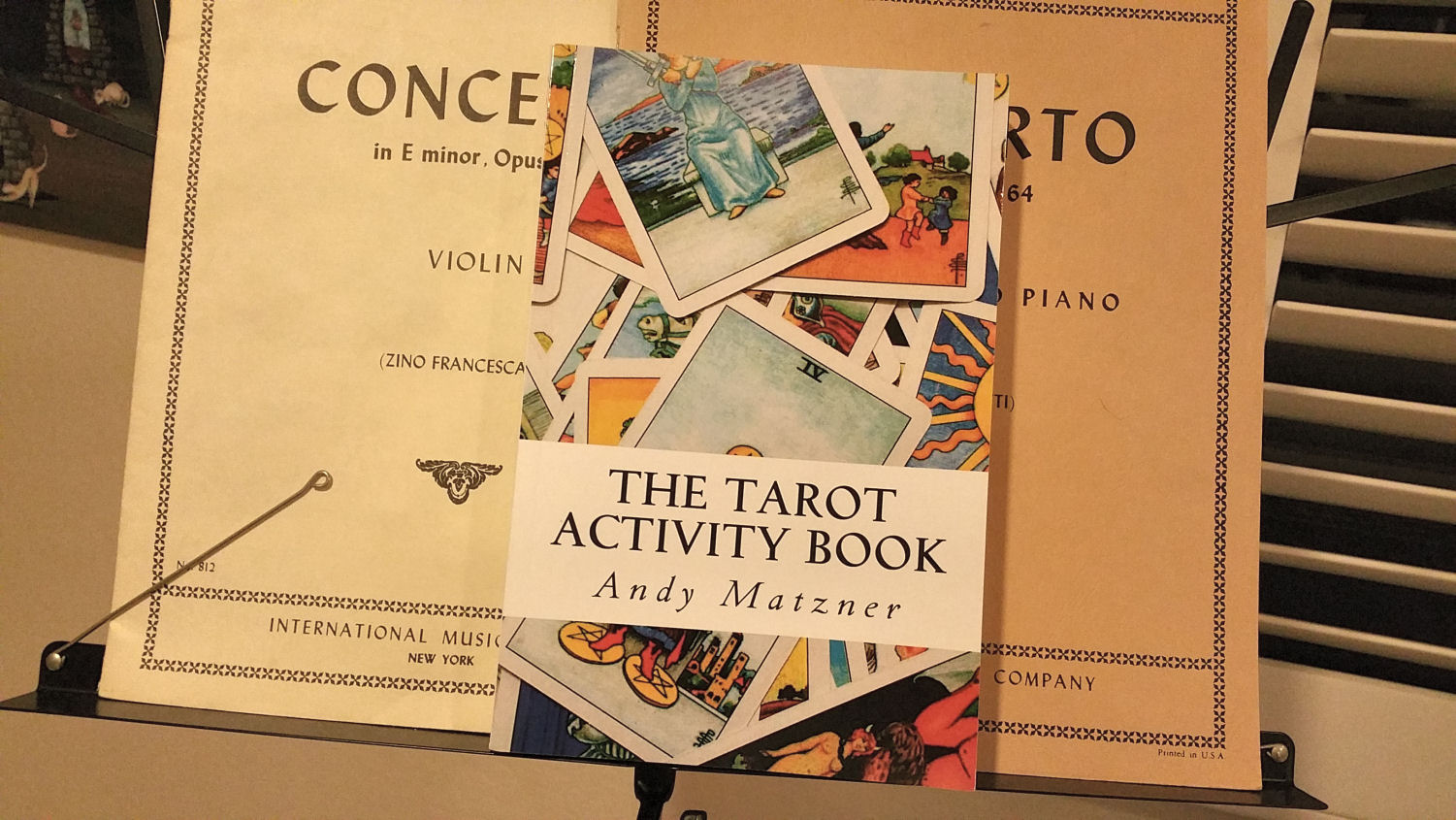 Review Of The Tarot Activity Book By Andy Matzner