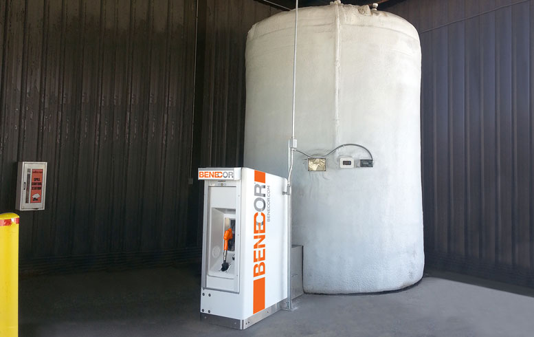 BENECOR DEF INSTALLATION Enclosure With Piping Bridge & Cold Weather Bulk TankOn-Site JB HUNT Chicago Photo