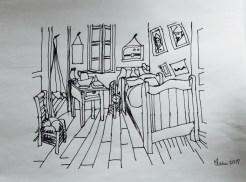chambre de Van Gogh encre