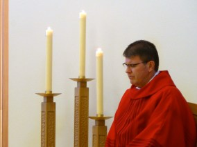 Fr. Mark McCormick celebrates Mass with the Sisters