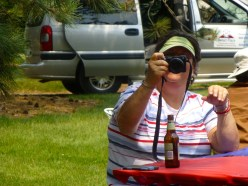 Novice Barbara takes pictures during July 4th festivities