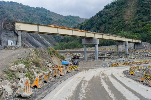 Namasia, highway 21. One of the many collapsed bridges is still being rebuilt