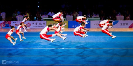 25 Indonesian Cheerleaders, Performing in 'Chinese Taipei', Kaohsiung (by Benedict Young)