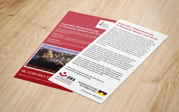 Flyer für Vortragsreihe einer NGO