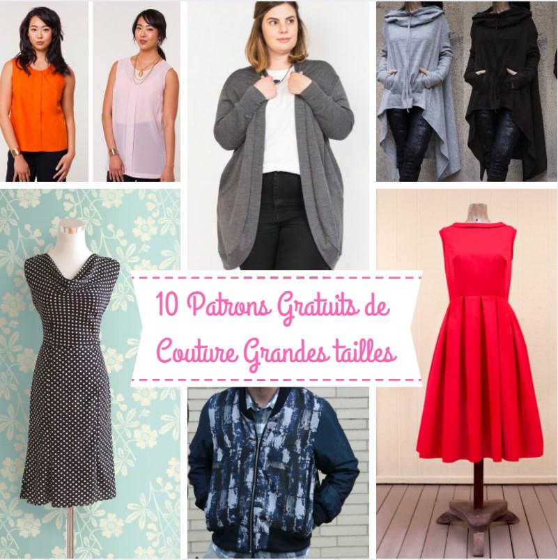 0865464974f 10 SUPERBES Patrons GRATUITS Grandes Tailles Femmes
