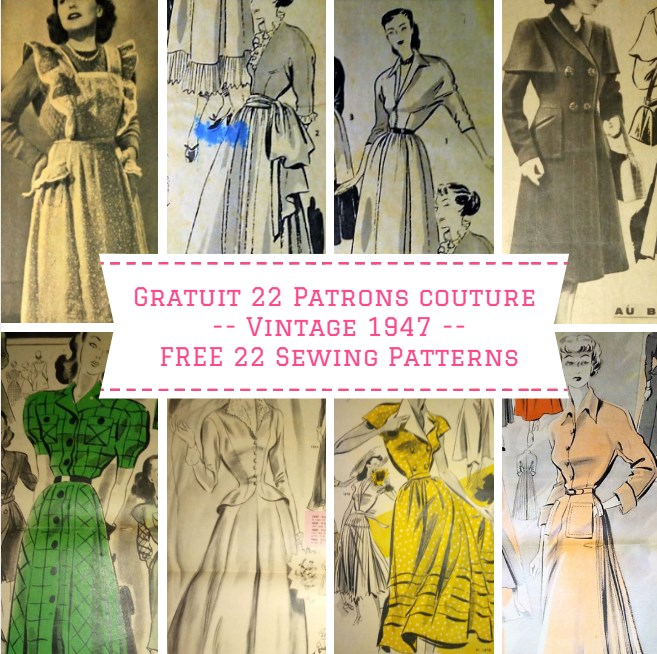 GRATUIT 22 superbes Patrons de Couture Vintage (robes ...