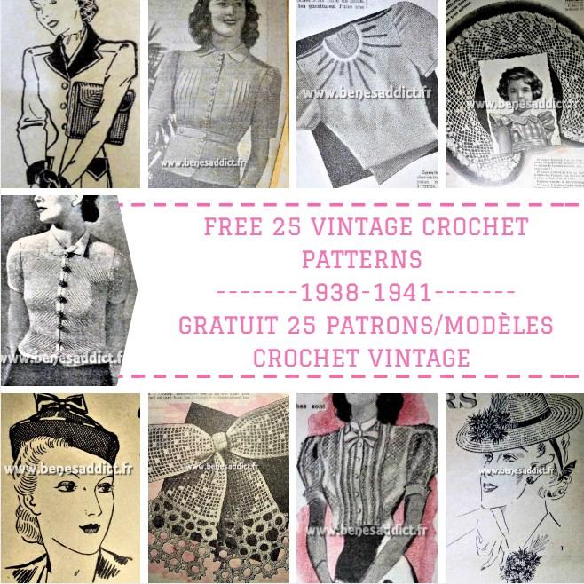 d00d0ac251d GRATUIT 25 Superbes Patrons Modèles au CROCHET! Vintage de 1938 à 1941