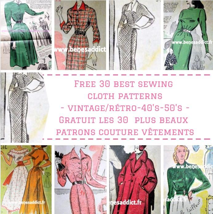 GRATUIT 30 Patrons de Vêtements Vintage à coudre! Free ...