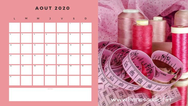 ⋆ Cadeau! Calendrier 2020/2021 Couture à imprimer ou télécharger! ⋆