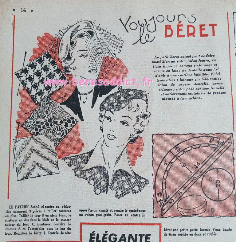 Cinquantaine de Patrons 50's GRATUIT Tricot, Crochet, Couture, Brico, Broderie, Recette