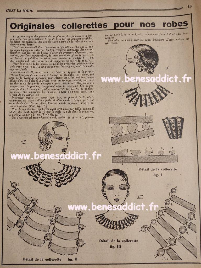 avant guerre 1933 et des Tas de patrons/modèles GRATUITS, Tricot, Couture, Crochet, cuisine