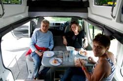 1er lunch dans le van