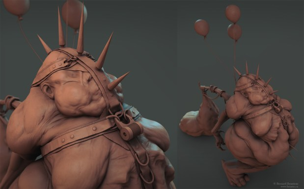 Contriciun- Clown sculpt 2