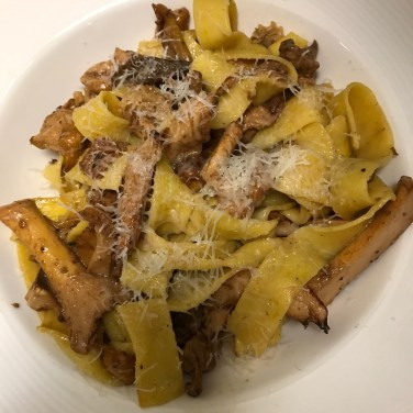 SEASONAL MUSHROOM PASTA - made from locally sourced wild mushrooms suateed in garlic
