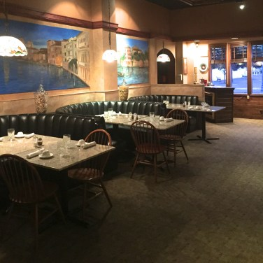 DOWNSTAIRS DINING - Mural made custom for Benetti's.
