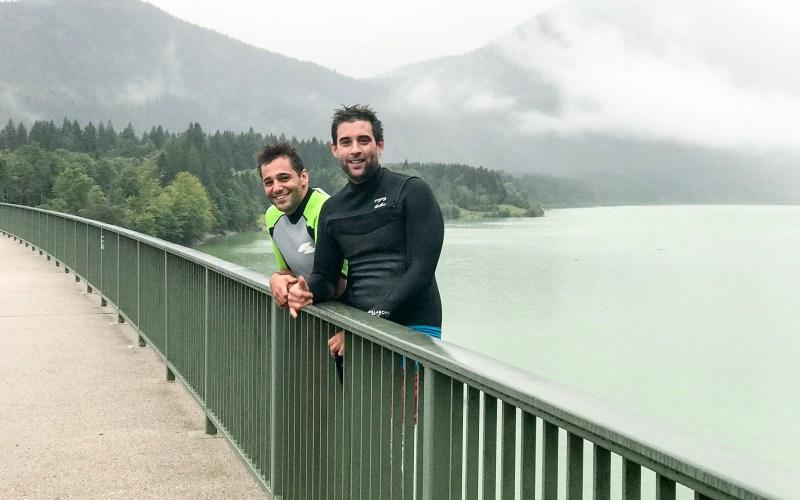 Brückenspringen Sylvensteinsee