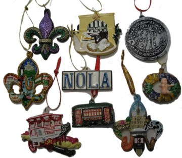 New Orleans ornaments