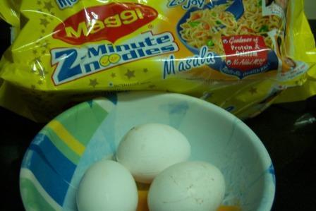 Egg and Maggi Noodles