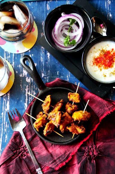Chicken Tikka Kebab from scratch
