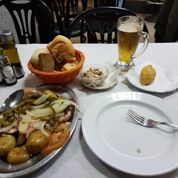 Octopus with Potatoes Polvo Lagareiro.