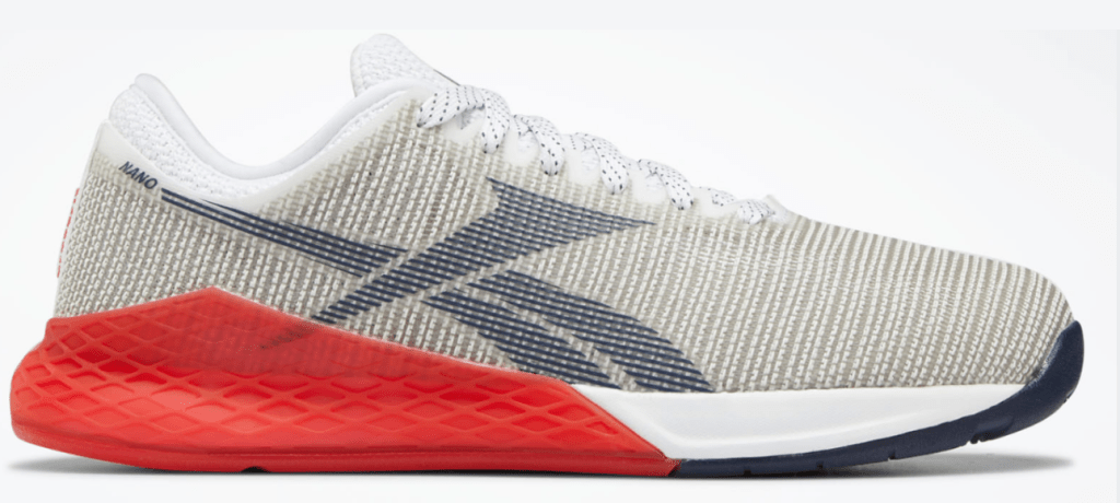 Reebok Nano 9 White and Primal Red Colorway