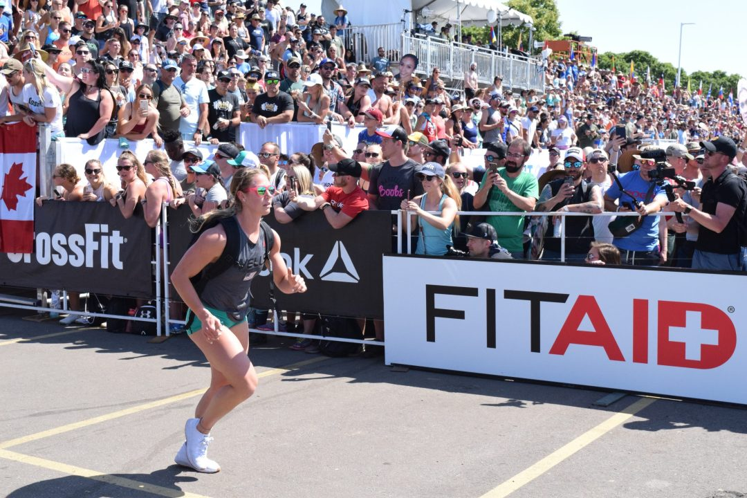 Brooke Wells completes the Ruck Run event at the 2019 CrossFit Games