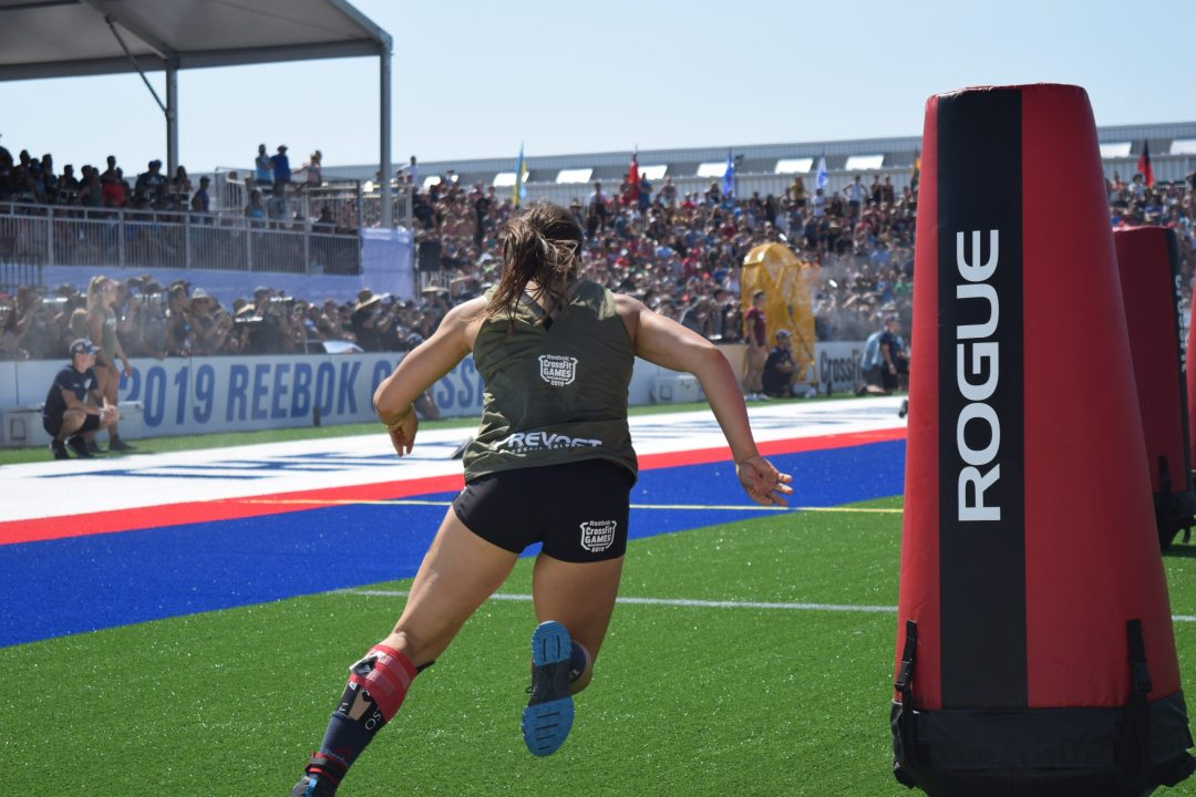 Carolyne Prevost of Canada competes in the Sprint event at the 2019 CrossFit Games