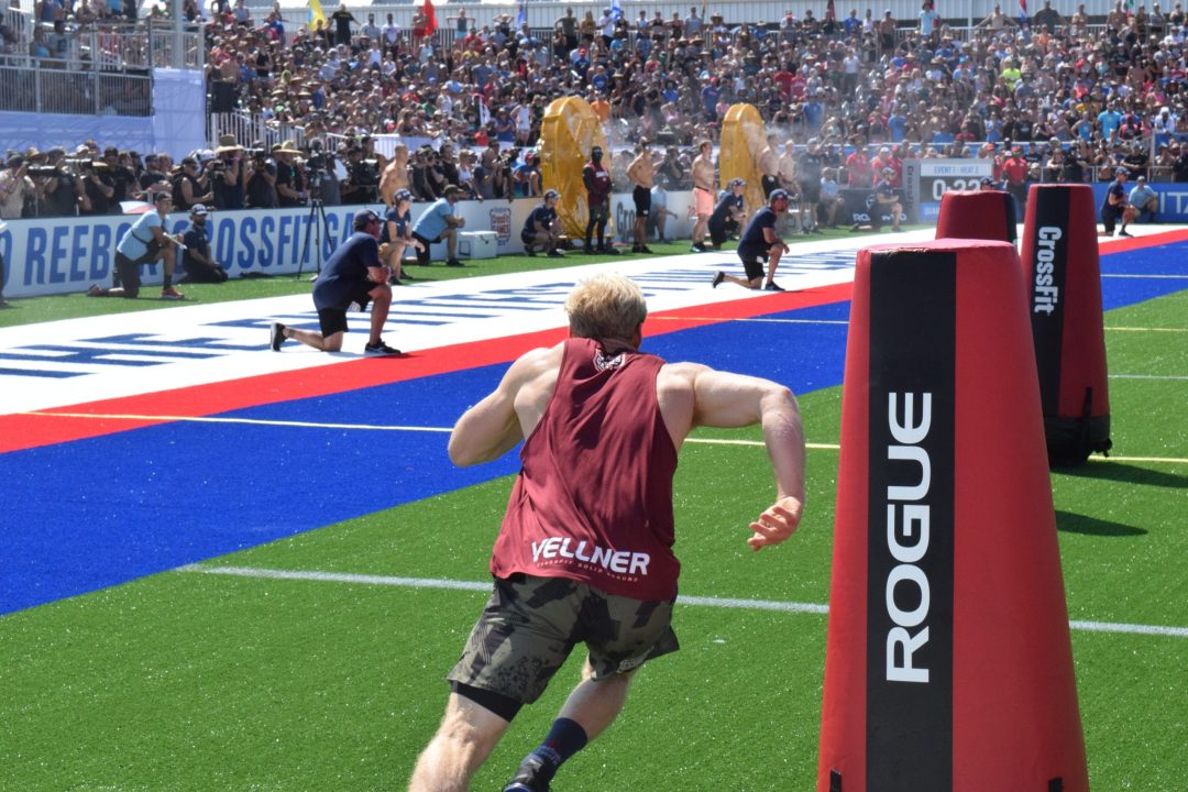 Patrick Vellner completes the Sprint event at the 2019 CrossFit Games