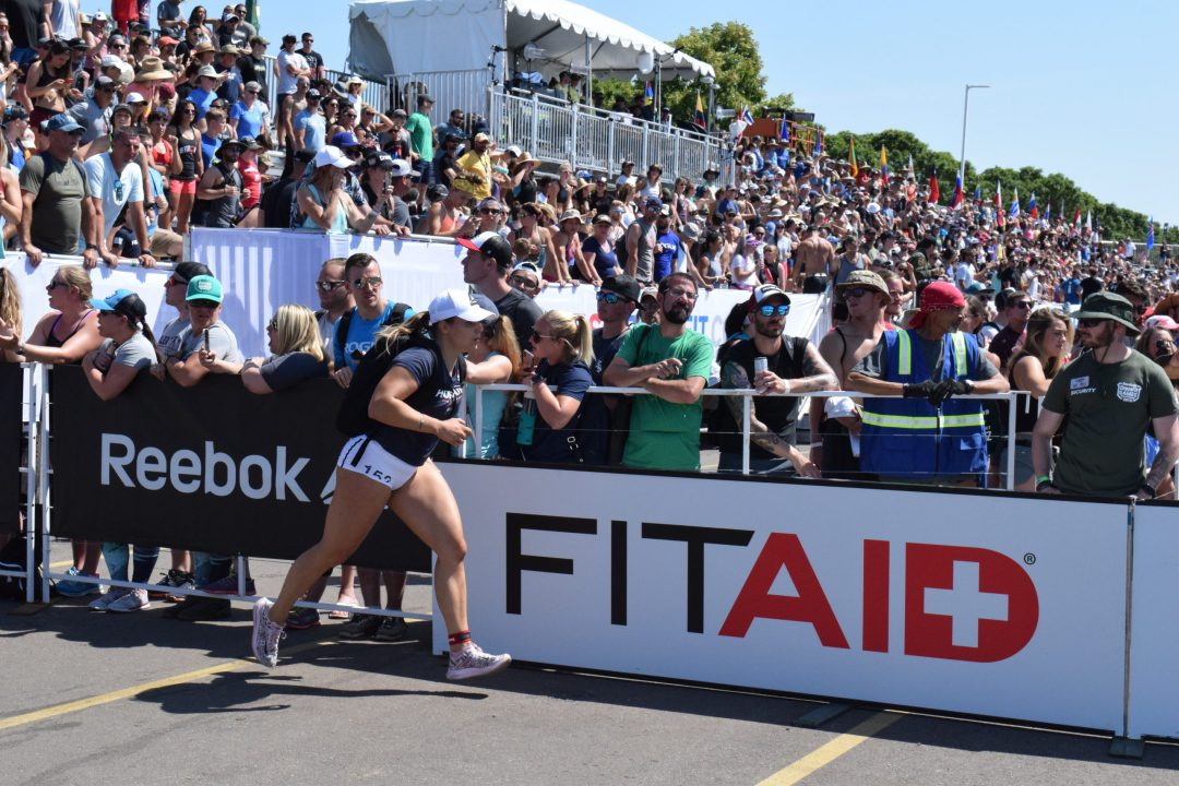 Laura Horvath completes the Ruck Run event at the 2019 CrossFit Games