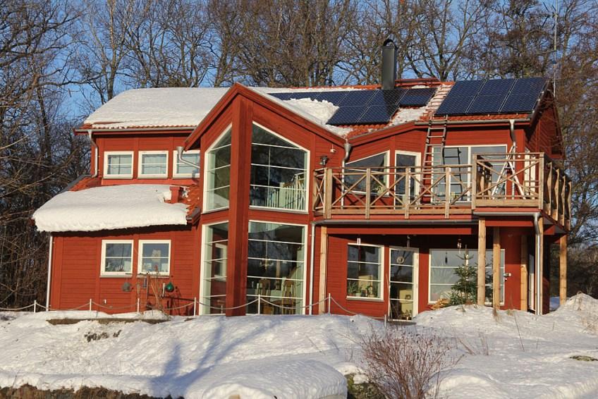 Solcellerna snöfria