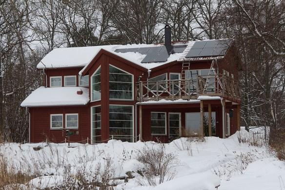 Efter snösväng på taket. 20121226.