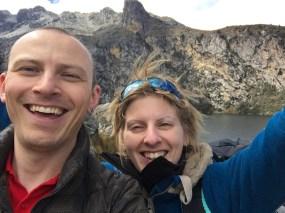 Ben and Sonia finally at Lake Churup